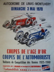 poster 1970 coupes age or montlhery bnc alfa xl